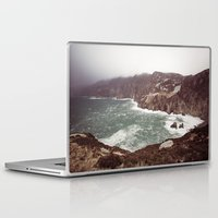 league Laptop & iPad Skins featuring Slieve League in winter by Marie Carr
