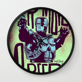 Your move, creep. // ROBOCOP Wall Clock