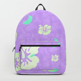 Tropical Pattern Purple Backpack