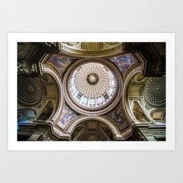 Pantheon Ceiling, Paris, France Art Print