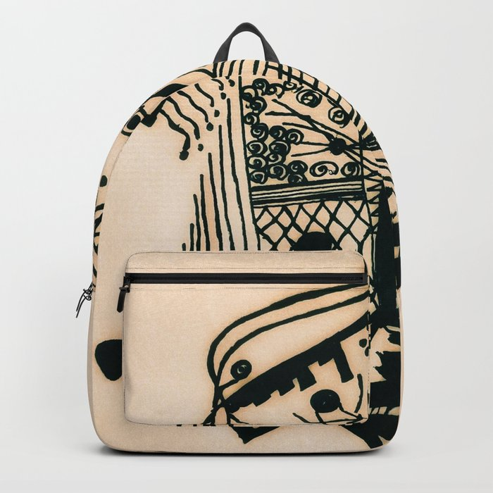 e54069cf62c6 Design with black ink  1 Backpack by paintstains