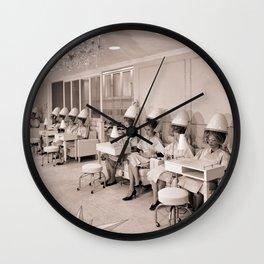 Vintage Hair Salon Wall Clock