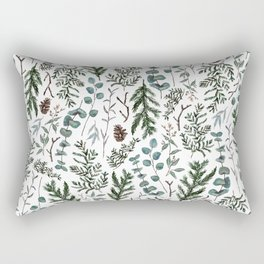 Pine and Eucalyptus Greenery Rectangular Pillow