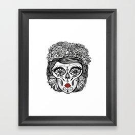 Miss Calavera Framed Art Print