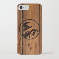 snowboarding iPhone & iPod Cases featuring snowboarding 1 by Paul Simms