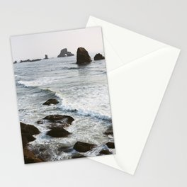 Quiet Waves on the Oregon Coast - Film Photograph Stationery Cards