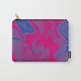 Bisexual Pride Abstract Marbled Colors Carry-All Pouch