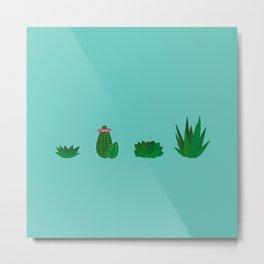 Simple Succulents Metal Print