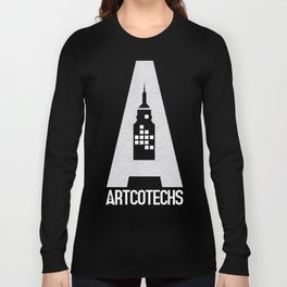 Artcotechsure: The A (white) Long Sleeve T-shirt