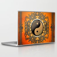 ying yang Laptop & iPad Skins featuring Ying and yang by nicky2342