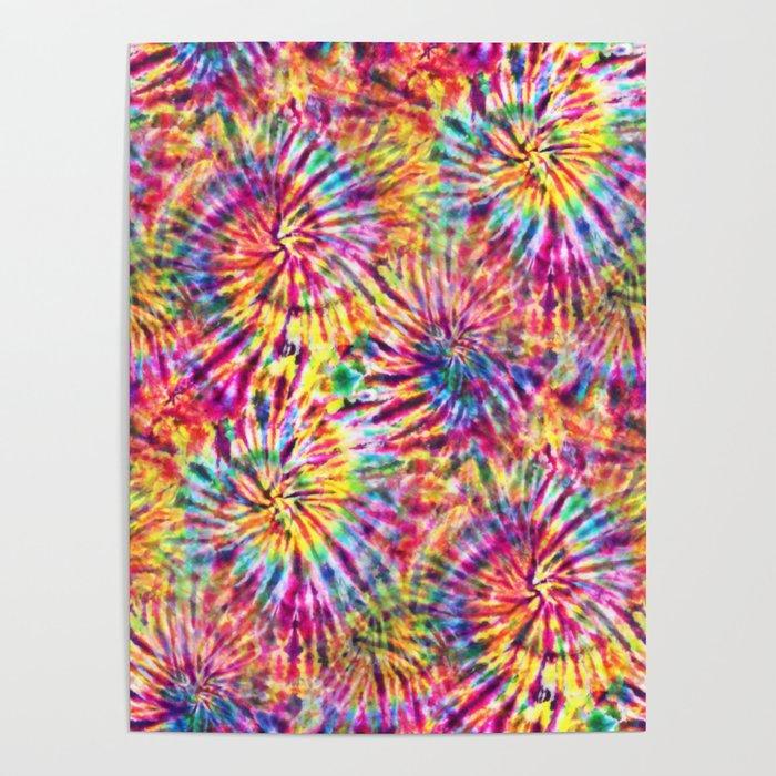 Sunny Tie Dye Poster