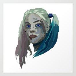 Margot Robbie - Harley Quinn Art Print