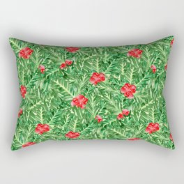 Holly Jolly Christmas Leaves & Berries (Small Pattern) Rectangular Pillow