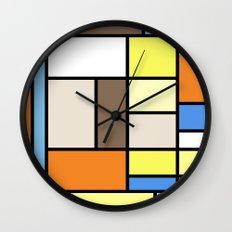 The Colors of / Mondrian Series - To toro - Miyazaki Wall Clock