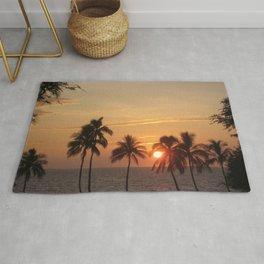 Sunset at Mauna Kea Beach Rug