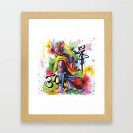 Kneeling Buddha Framed Art Print