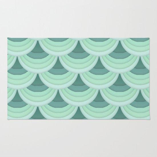 Ocean Fan Tail. Rug