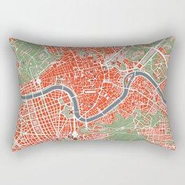 Rome city map classic Rectangular Pillow