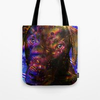 lab Tote Bags featuring Chocolate Lab by Roger Wedegis
