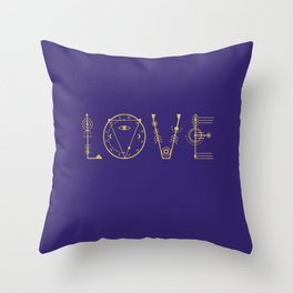 Love in Sacred Geometry Alphabet Throw Pillow