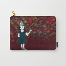 Lonely Girl's Red Balloon Carry-All Pouch