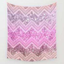 Unicorn Glitter Chevron #2 #shiny #decor #art #society6 Wall Tapestry