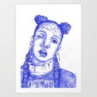 fka twigs Art Prints featuring FKA twigs by Bethany Mannion