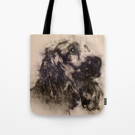 English Cocker Spaniel Sketch Tote Bag