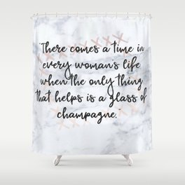 Champagne love Shower Curtain