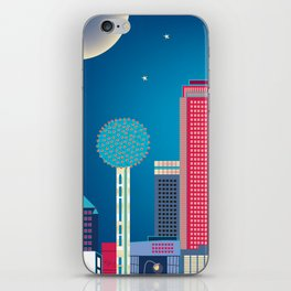 Dallas, Texas - Skyline Illustration by Loose Petals iPhone Skin