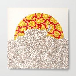 - autumnal sunset - Metal Print