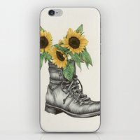 shoe iPhone & iPod Skins featuring Shoe Bouquet I by The White Deer