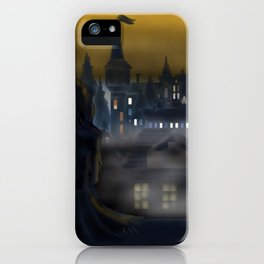 Girl Watching City iPhone Case