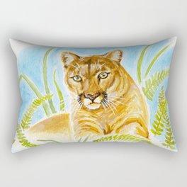 Reise Cougar on Hilltop Rectangular Pillow