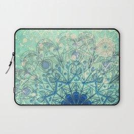 Mandala in Sea Green and Blue Laptop Sleeve