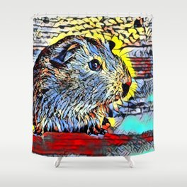 Color Kick - Guinea pig Shower Curtain