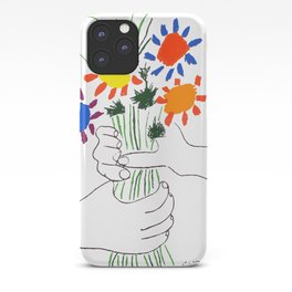 Pablo Picasso Bouquet Of Peace 1958 (Flowers Bouquet With Hands), T Shirt, Artwork iPhone Case