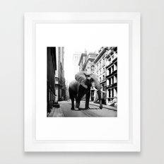Street walker II Framed Art Print