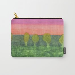 Trees, Green and Evening Sky Carry-All Pouch
