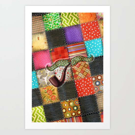 Lord Patchwork Art Print