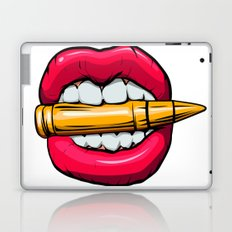 bullet in mouth. Laptop & iPad Skin