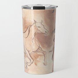 Girl with Horse Illustration Travel Mug