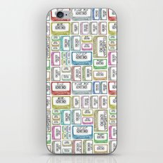 Tape Mix 2 Vintage Cassette Music Collection iPhone & iPod Skin