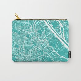 Vienna map turquoise Carry-All Pouch