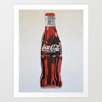 coca cola Art Prints featuring Coca-Cola by Marta Barguno Krieg