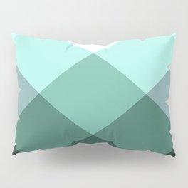 Teal Green Oxford Print Pillow Sham