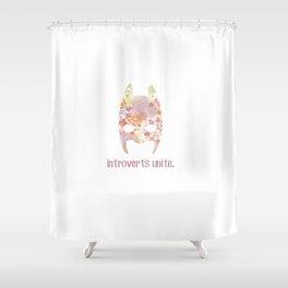 Introverts unite. Shower Curtain