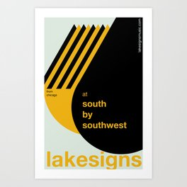 Lakesigns Poster - SXSW 2012 (2 of 4) Art Print