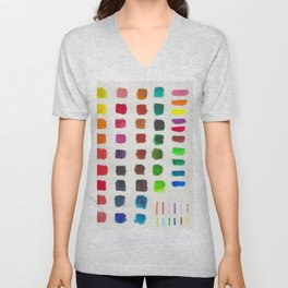 colors in different mediums Unisex V-Neck