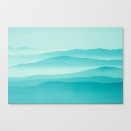mint sunrise layers Canvas Print